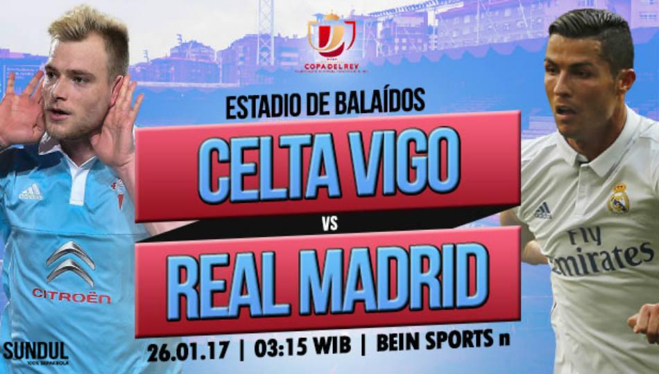 Real Madrid akan mengunjungi markas Celta Vigo dini hari nanti